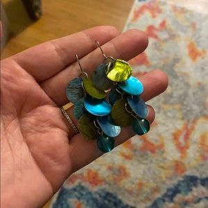 Jewelry - Teal & Green Shell earrings